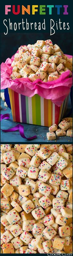 5 Ingredient Funfetti Shortbread Bites - easy fun treat everyone always loves!!