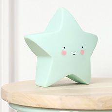 Lampe / veilleuse étoile Mini Star par A Little Lovely Company. Une jolie petite étoile tout doux pour décorer une chambre d'enfant ou un salon.