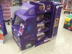 Temporary POS Design - POS Design - 3D Design - Cardboard Design - Christmas Cadbury Lorry - Creative Design