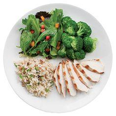 Diet meal. Weight loss diet