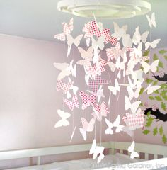 How to Make a Butterfly Chandelier-Free Download   ☀CQ #paper #templates #printables #crafts #DIY.  Thank you for sharing! ¯\_(ツ)_/¯