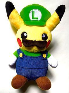 Pokemon Center Original Luigi Pikachu Plush Stuffed Doll Toy from Japan  #PokemonCenter