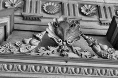 Drayton Hall Plantation, Charleston SC, carvings in the house