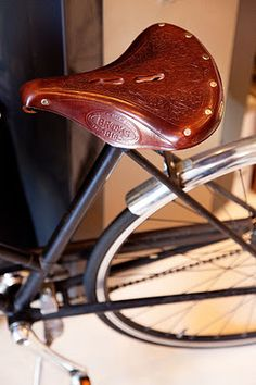 Retro bicycle seat via The Selby
