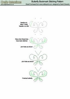 Butterfly Bookmark Stitching Pattern on Craftsuprint designed by Sarah Edwards…