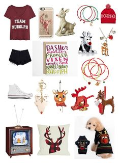 """""""Rudolph The Red Nosed Reindeer...."""" by jessicacalumhood1253 ❤ liked on Polyvore featuring Converse, Casetify, Bling Jewelry, See by Chloé, Department 56, women's clothing, women, female, woman and misses"""