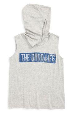 h.i.p. Good Life Hooded Tank (Big Girls) | Nordstrom