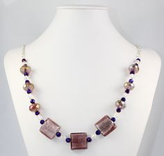 Purple Crystal Necklace