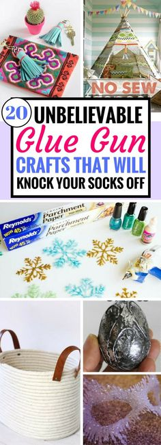 DIY Glue Gun Craft Ideas that will blow you away! Find great ways to have fun this holiday with fantastic diy projects you can do with using a glue gun. Just wait till you've seem the snowflakes!
