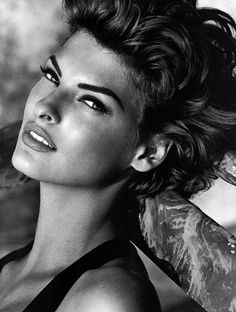 Linda Evangelista. -not sure if I could play off, but love the hair