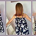 K. m'a demandé de lui coudre une robe pour le spectacle de l'école. Une robe couverte de fleurs pour jouer les vahinées... Nous avons...