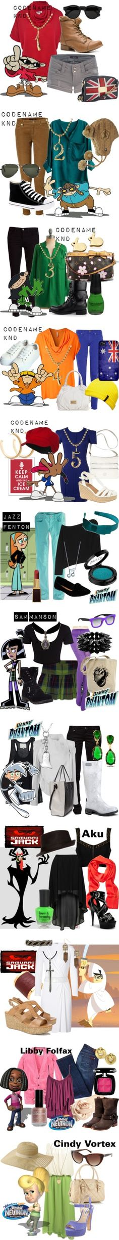 """""""90s Cartoons"""" by lilyelizajane ❤ liked on Polyvore"""