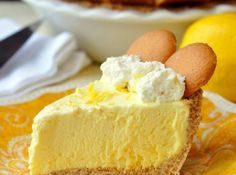 Old Fashioned Lemon Icebox Pie. This is a lemon icebox pie just like Grandma used to make. The filling freezes to a silky, luscious, creamy texture with plenty of lemony tart flavor From: Rock Recipes, please visit 13 Desserts, Make Ahead Desserts, Lemon Desserts, Lemon Recipes, Pie Recipes, Dessert Recipes, Dessert Healthy, Lemon Icebox Pie, Rock Recipes