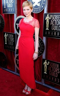 Michelle Williams in Valentino | 2012 Screen Actors Guild Awards