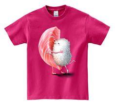 Men T-Shirt, Women T-Shirt, Graphic Tee, Dad Gift, Gift shirt, Japan Valentine Toro Sushi Romantic Kiss, Sushi t-shirt, Valentine gift