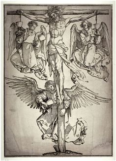 Christ on the Cross with Three Angels (1525) - Albrecht Durer