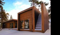 "Designed by Saunders Architecture.  ""Summerhouse Aaland was designed by Todd Saunders and Tommie Wilhelmsen in the Fall of 2002. This house ta"