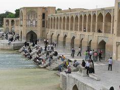 Isfahan Khaju Bridge. http://www.farhorizons.com/trips/MiddleEastandArabia/IranEmpires/IranEmpires.php