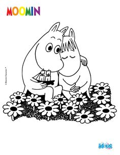 MOOMIN IN LOVE  online coloring page