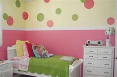 kids room painted polka dots