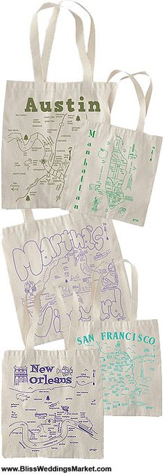 Bags with town or state printed on them!