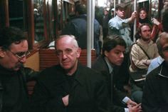Pope Francis, then Archbishop of Bueno Aires, riding the subway in the Argentine capital in 2008.