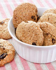 Przepisy z otrębami - Ciasteczka z otrębami Rolled Oats, Baking Sheet, Dip, Oatmeal, Muffin, Banana, Cookies, Breakfast, Desserts
