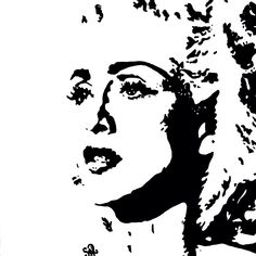 """""""MADONNA"""" painting by Shon Hudspeth www.shonsart.com #art #painting #Madonna #mdna #ShonHudspeth #artist #music #icon #queen #pop #celebs #happybirthday"""