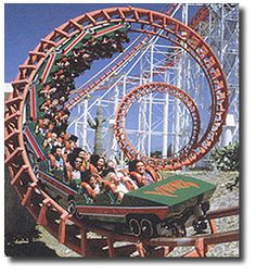 The Viper which is my FAVORITE coaster @ Six Flags Magic Mountain California