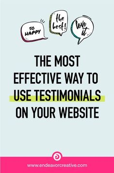 """This question comes up a lot: """"How do you present testimonials? Should I create a testimonials page or put them in different locations on my website?"""" Website testimonials are most powerful when they're placed in close proximity to your marketing claims and back up what you've promised. This not only helps your potential customers overcome objections by answering any lingering questions they may have, but provides them with powerful... Online Marketing Strategies, Marketing Tactics, Content Marketing, Business Tips, Online Business, Finding Yourself Quotes, How To Get Clients, Marketing Calendar, Tips Online"""