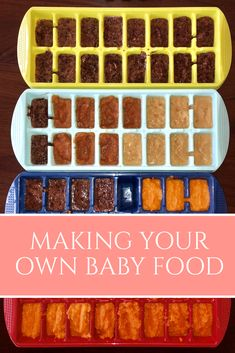 Saving money by making your own baby food, recipes I used!