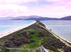 Isn't that a cool view? I spent a day on Bruny Island, Tasmania with a few travel mates and there we climbed up to this amazing lookout point