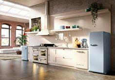 Electrocasnice Smeg 50s Style Kitchens, Tiny Kitchens, Smeg Kitchen, Cosy  Kitchen, Kitchen