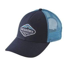 22adc67e7010a Blue Ridge Mountain Outfitters - Patagonia Fitz Roy Crest LoPro Trucker Hat  - Navy Blue w
