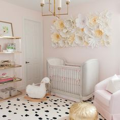 """Glitter Guide on Instagram: """"Today on glitterguide.com, we're touring this sweet, swan-filled nursery by @palmbeachlately  by @sheachristinephoto #GGatHome #Nursery ✨link in our bio✨"""""""