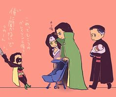 softnerd:  Damian: But Father, they look…familiar. Bruce: Walk away. Mar'i: See you soon, sweetie!