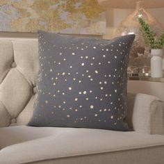 Mercer41 Janson Cotton Throw Pillow Color: Gold