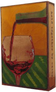 "Liquid Sunshine Spiritile by Houston Llew - quote by Galileo - ""Wine is sunlight held together by water.''"