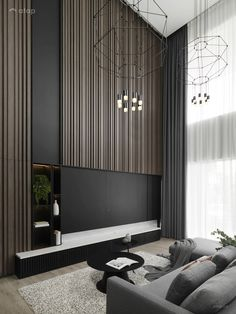Contemporary Minimalistic Living Room semi-detached design ideas & photos Malaysia | Atap.co Living Tv, Living Room Modern, Home Living Room, Interior Design Living Room, Contemporary Living Room Designs, Contemporary Kitchens, Contemporary Interior Design, Studio Interior, Semi Detached