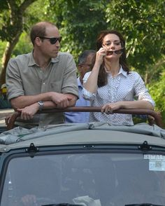 Royal Family Around the World: Prince William, Duke of Cambridge and Catherine, Duchess Of Cambridge Visit India and Bhutan - Day 4 on April 13, 2016 in Kaziranga, India.