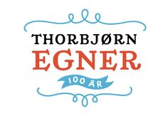Logo made for the celebration of what would be the birthday of Thorbjørn Egner, a beloved Norwegian childrens book-writer. The logo makes use of Egner's own handwriting which is well known from his book covers.Made while working at Tank Design (ww… Anniversary Logo, Tank Design, Book Writer, All You Need Is, Typography Design, Childrens Books, Identity, The 100, Banner