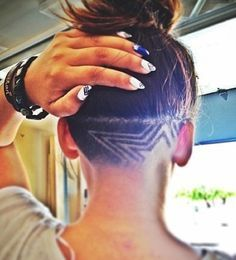 Groovy Back Of Head Shaved Design Everything Hair Pinterest Be Hairstyle Inspiration Daily Dogsangcom