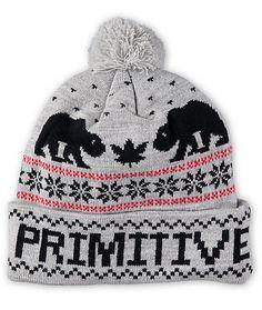 Primitive Jolly Bear 2 Pom Beanie  df8c1706d6