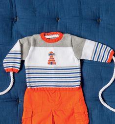 Breipatroon Baby trui,  patroon GRATIS bij afname garen.