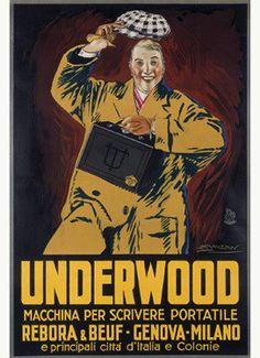 Underwood Portable Typewriter Advertisement Fine Art Print