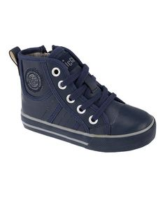 Look what I found on #zulily! Blue Cadro High-Top Sneaker by Chicco #zulilyfinds