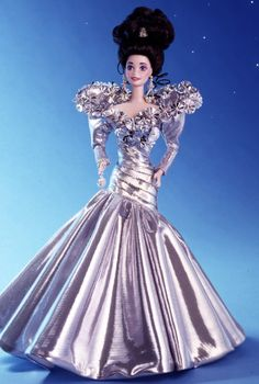 Silver Starlight Barbie Doll - Porcelain - 1994 The Gold & Silver Porcelain Collection - Barbie Collector