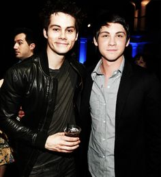 ❤️Dylan O'Brien and Logan Lerman❤️  At first I thought is was Logan looking in a mirror