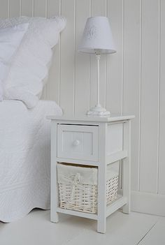 Small Bedside Table bar harbor narrow white bedside table. bedroom furniture | hallway