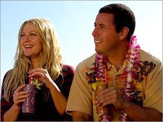 """50 First Dates with Drew Barrymore & Adam Sandler---They are also so cute in """"The Wedding Singer"""" too"""